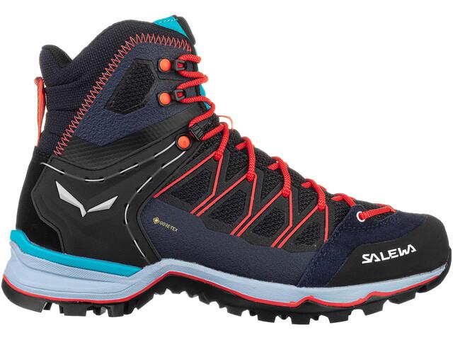SALEWA MTN Trainer Lite GTX Chaussures Mi-Hautes Femme, premium navy/blue fog